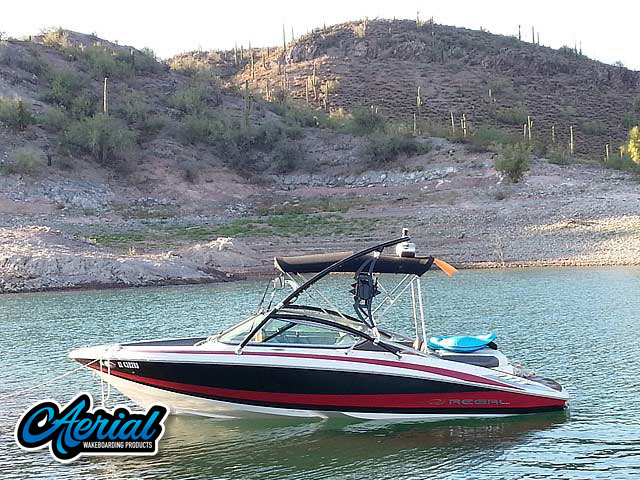 Wakeboard tower for 2010 Regal 2100 LSR boat featuring Aerial's Assault Tower