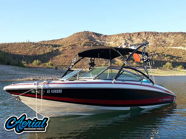 2010 Regal 2100 LSR wakeboard tower, speakers, racks, bimini & lights