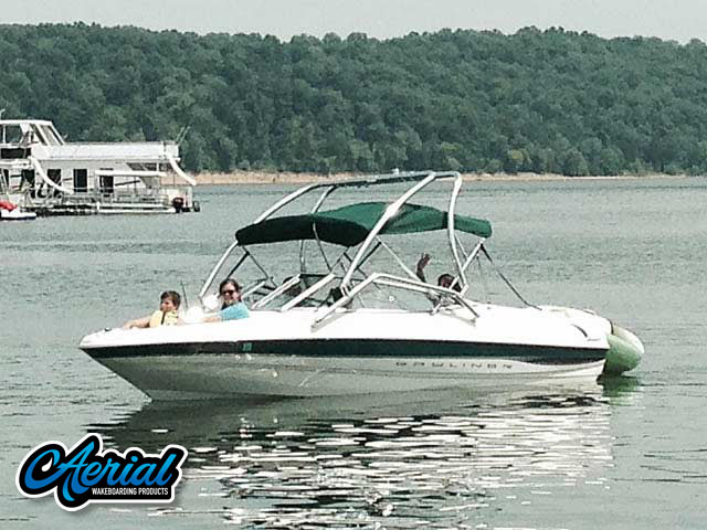 Aerial Assault Tower on a 2000 Bayliner Capri 1850 LX boat
