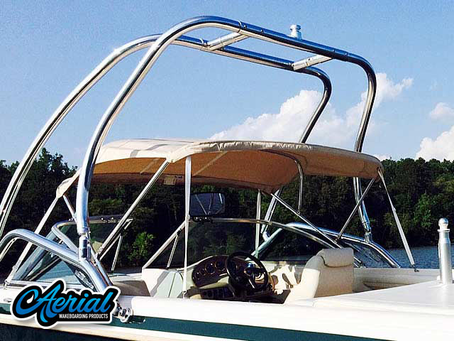 1999, MasterCraft Maristar 205 VRS Wakeboard Tower, speakers, racks, bimini