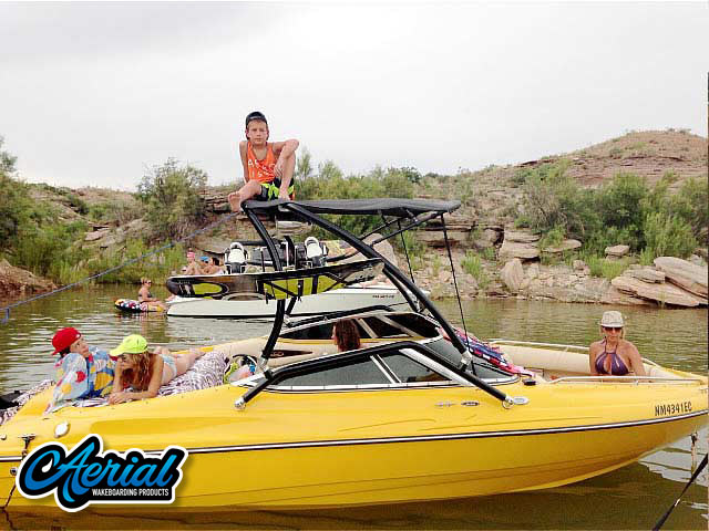 Wakeboard tower for 2001 Mariah Z212  boat featuring Aerial's Airborne Tower