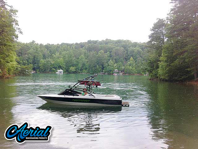 1991 MasterCraft ProStar 190 wakeboard tower, speakers, racks, bimini & lights