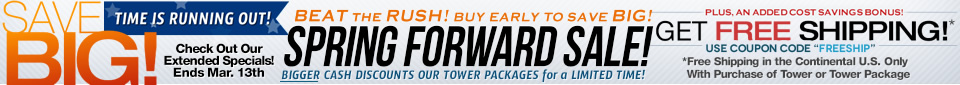 Winter wakeboard towers sale event