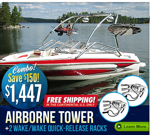 Airborne wakeboard tower sale