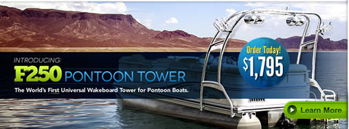 Wakeboard Tower for Pontoon Boats
