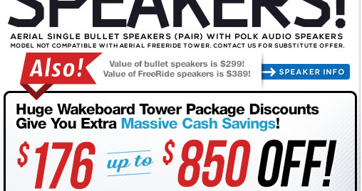 New Wakeboard Towers for 2014