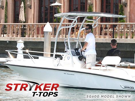 what a folding t-top for boats looks like