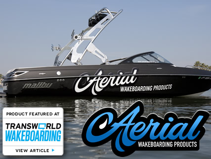 Aerial FreeRide wakeboard tower in polished aluminum