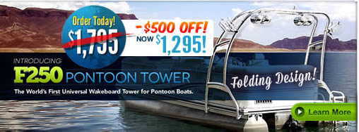 pontoon boat wakeboard tower