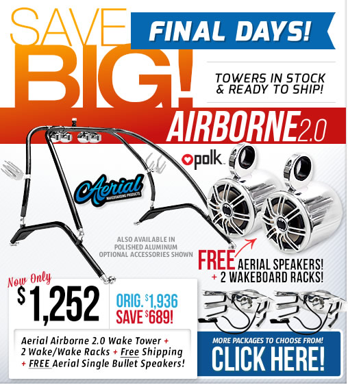 Airborne 2.0 Boat Towers on Sale