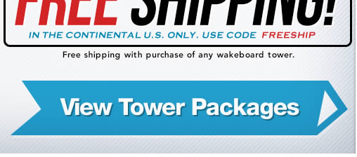 free shipping on wakeboard tower orders