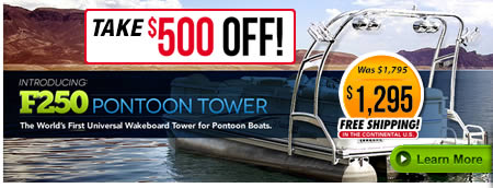 pontoon wakeboard tower