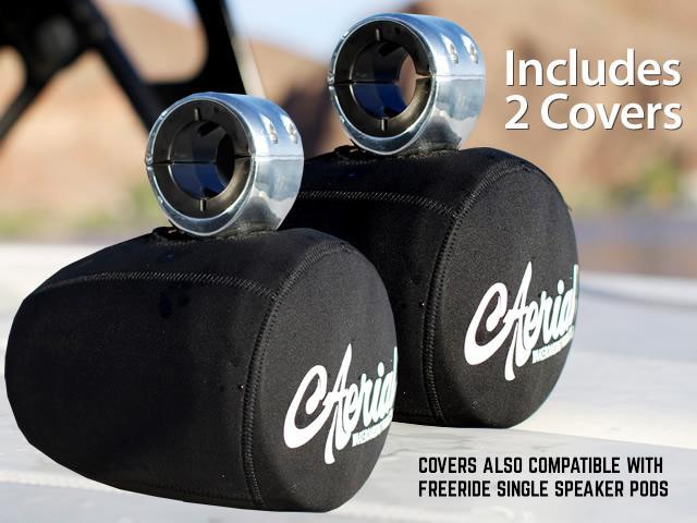 Neoprene covers for Aerial singlewakeboard tower speaker pods