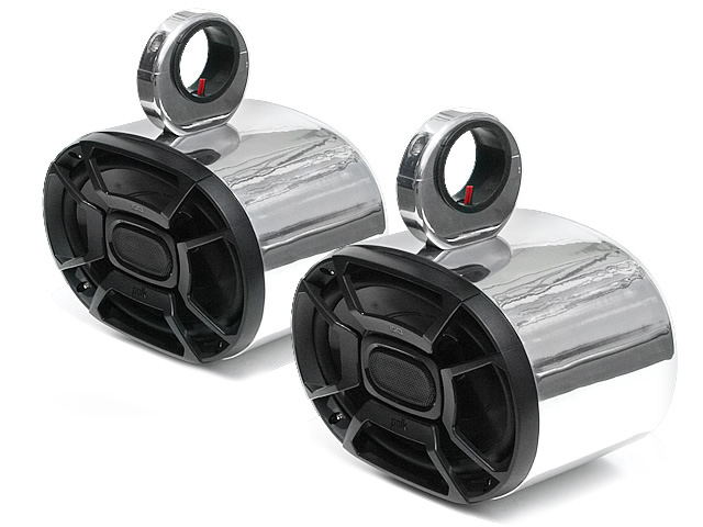 Wakeboard tower speakers Aerial Single Blunt Speaker Pod 6x9 inch for Wakeboard Tower (Set of 2 single speakers) for boats