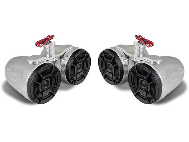 Wakeboard tower speakers Aerial FreeRide Twin Wakeboard Tower Speakers (set of 2) for FreeRide Wakeboard Tower for boats