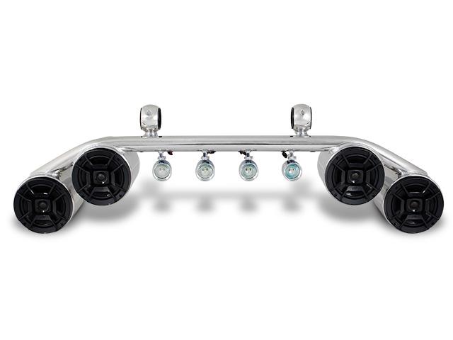 polished aluminum 2 twin blunt polk speaker light combo bar