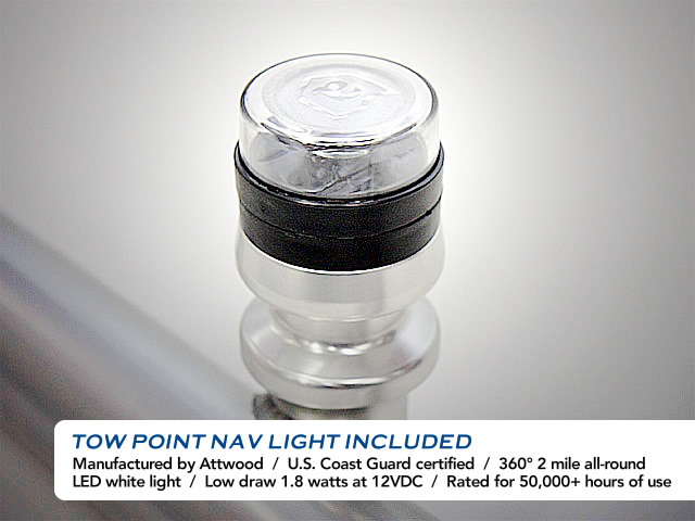 Buying the Aerial Tow-Point Light (included with tower purchase only) is very affordable and it installs easily on any boat