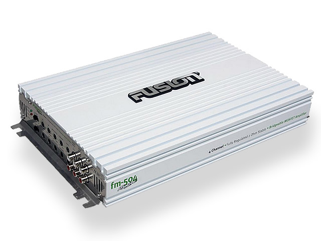 Fusion FM-504 4 Channel Marine Amplifier for Boats - 500 Watts