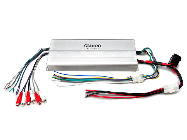 Wakeboard tower speakers Clarion Micro Size 5/4/3 Channel Class-D Marine Amplifier XC2510 for boats