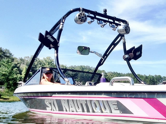 Photo of customer using Ascent 2.0 wakeboard tower