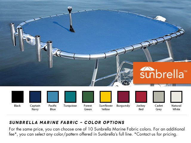 boat ttop canvas color options