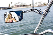 Wakeboard Tower Mirror by Aerial | Adjustable Arm w/ Quick Release | Polished Aluminum for Boats