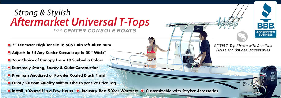 T-Tops for Center Console Boats on Sale