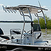 SG600 center console boat ttop black aluminum polished