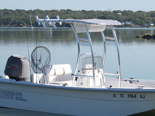 T-Top for 2007 Carolina Skiff 218 DLV center console boats 119469-3
