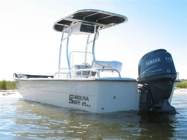 Carolina Skiff boat t-tops