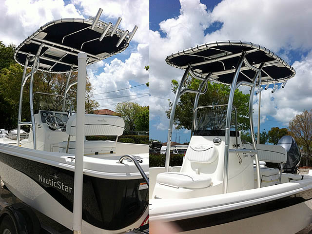 T-Top for 2014 NauticStar 1810 Bay center console boats 152706-1