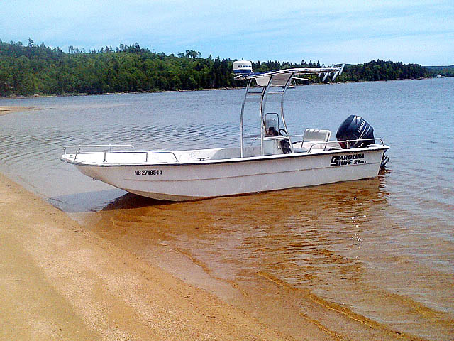 2004 Carolina Skiff 21 DLX boat t-tops