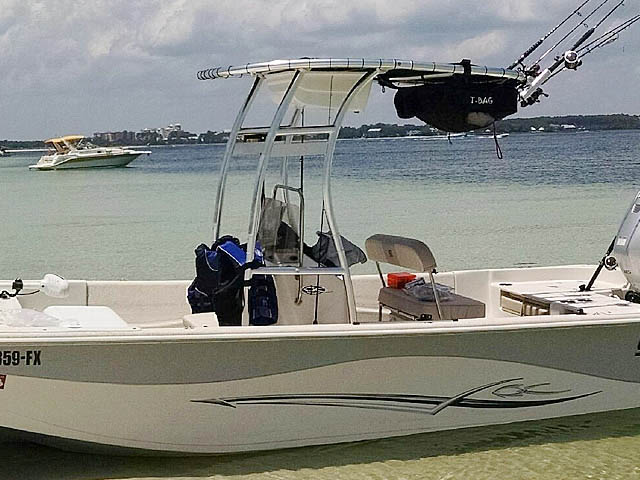 T-Top for 2013 Carolina Skiff 218 DLV center console boats 158471-5