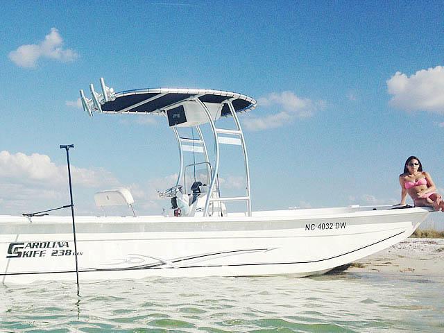 T-Top for 2012 Carolina Skiff 238DLV  center console boats 158489-2