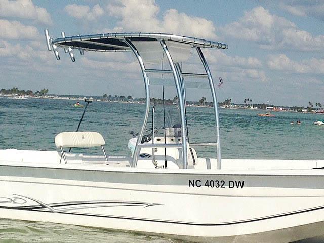 T-Top for 2012 Carolina Skiff 238DLV  center console boats 158489-4