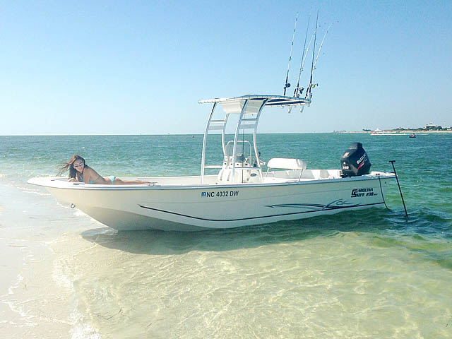 2012 Carolina Skiff 238DLV  boat t-tops