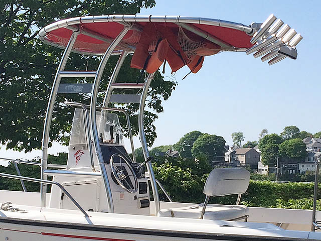 T-Top for 1998 Boston Whaler 17' Outrage center console boats 158613-2