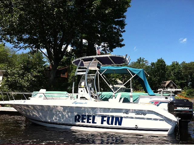 1989 Sea Ray Laguna boat t-tops