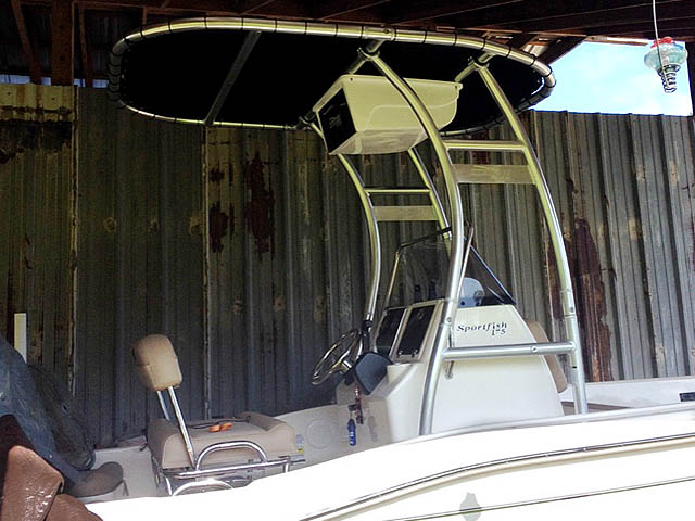 T-Top for 2014 Scout 175 SportFish center console boats 160610-3