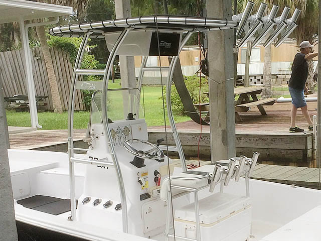T-Top for 2004 Pro-Line 22' Bay center console boats 161048-2