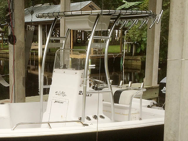 T-Top for 2004 Pro-Line 22' Bay center console boats 161048-4