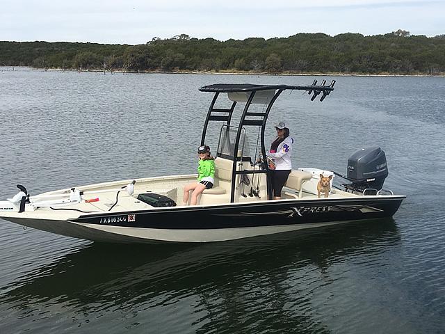 Xpress fishing boat t-top