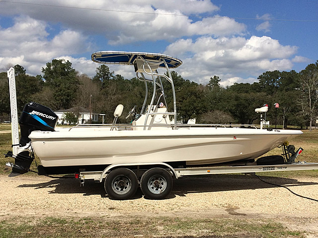 2001 21 ft Fishmaster  boat t-tops