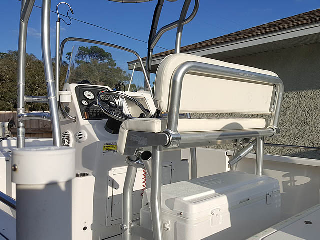 Tidewater fishing boat t-top