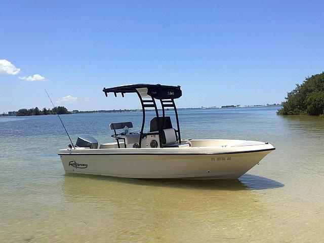 Pro Sport fishing boat t-top