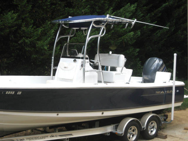T-Top for 2011 Sea Hunt BX24 Bay Boat center console boats 34485-4