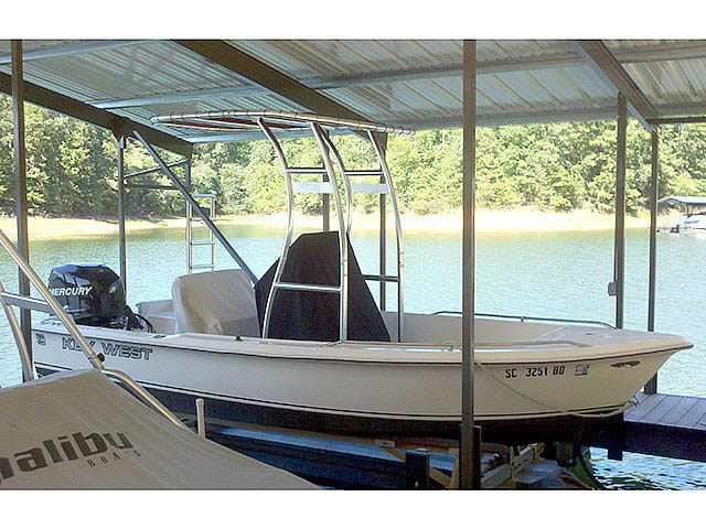 1998 1720 Key West boat t-tops