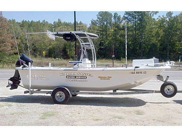 2008 Carolina Skiff 218 dlv boat t-tops