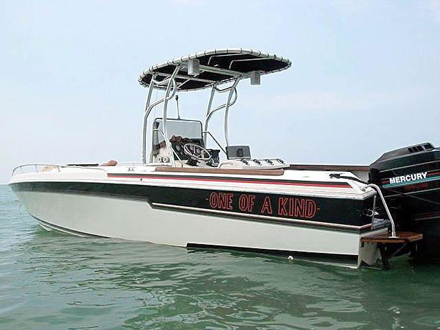 1985 Scarab Sport boat t-tops