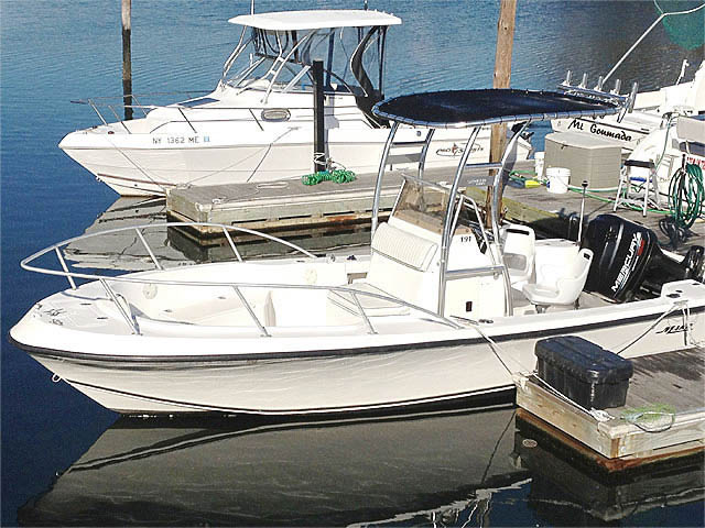 1998 Mako 191 Center Console boat t-tops